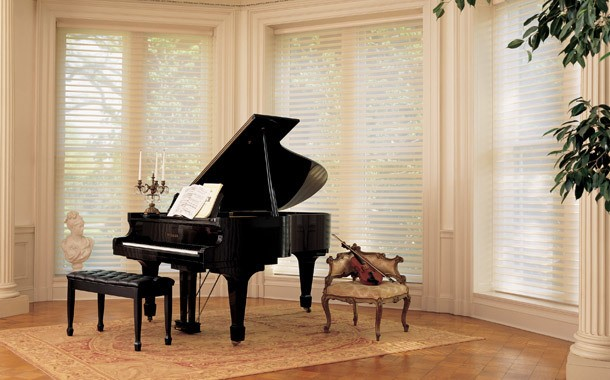 Piano room blinds