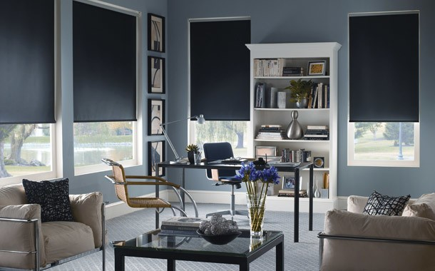 Dark grey blinds