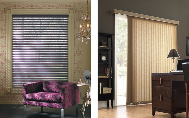 Purple blinds and vertical blinds