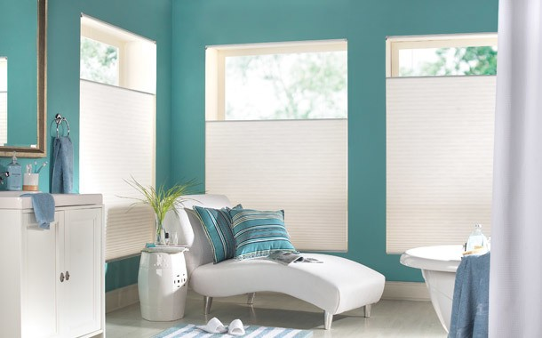 White up/down blinds