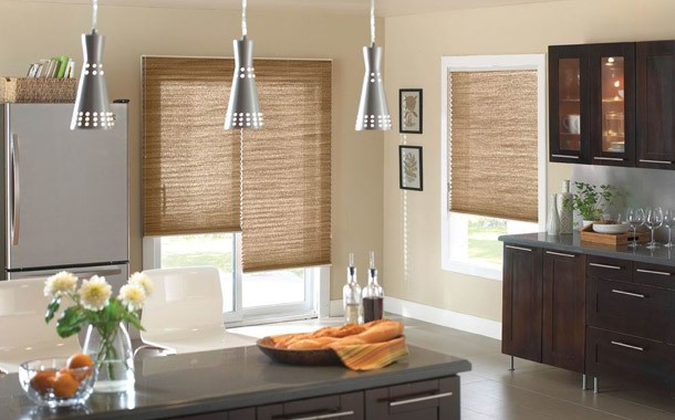 Wood kitchen blinds